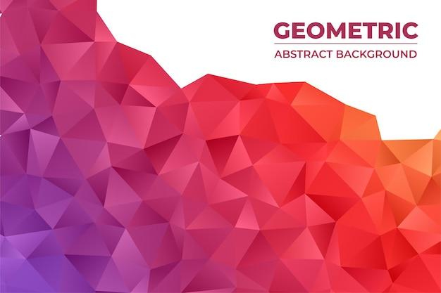 Fundo abstrato geométrico com polígono de triângulo