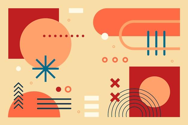 Fundo abstrato geométrico de design plano