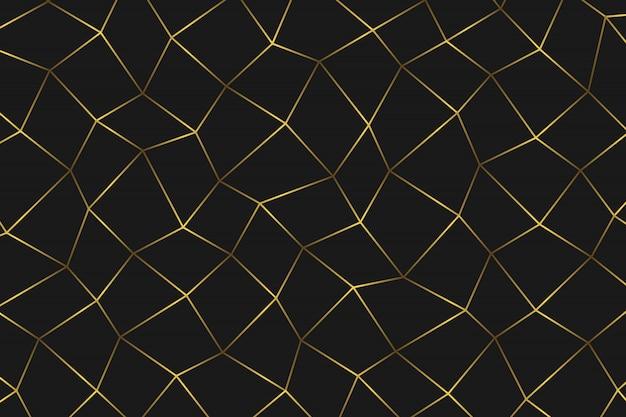 Fundo abstrato geométrico dourado.