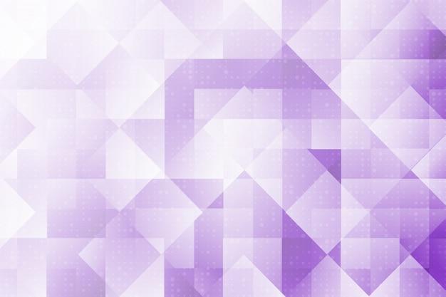 Fundo abstrato geométrico moderno de cor branco e roxo