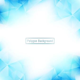 Fundo abstrato geométrico polígono azul