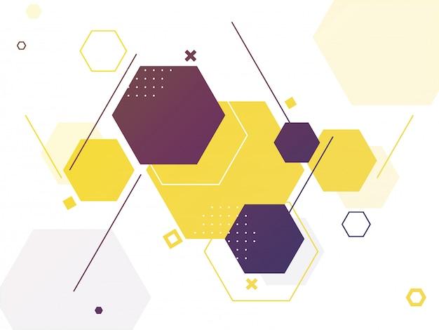 Fundo abstrato geométrico sextavado vazio para a ciência.