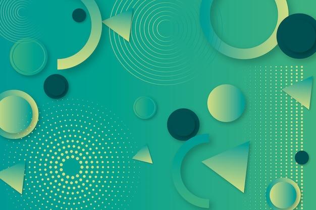 Fundo abstrato geométrico verde