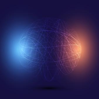 Fundo abstrato globo de wireframe