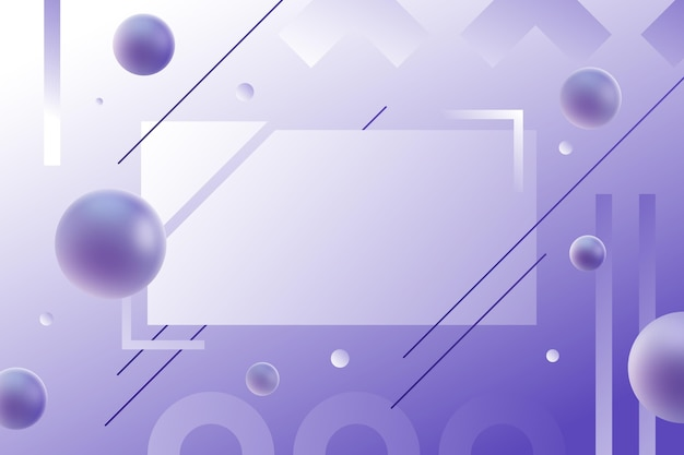 Fundo abstrato gradiente com diferentes formas