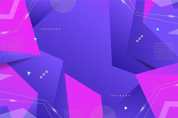 Fundo abstrato gradiente com formas geométricas