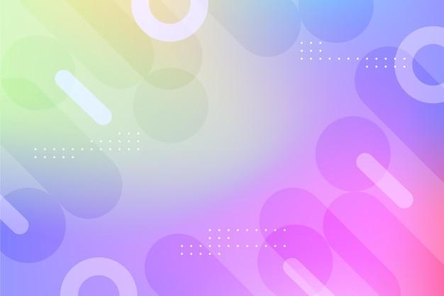 Fundo abstrato gradiente com formas