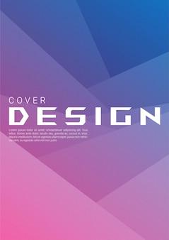 Fundo abstrato gradiente de forma geométrica com textura de grão para capa da web e papel de parede. desenho vetorial de papel dobrável