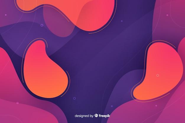 Fundo abstrato gradiente de formas líquidas