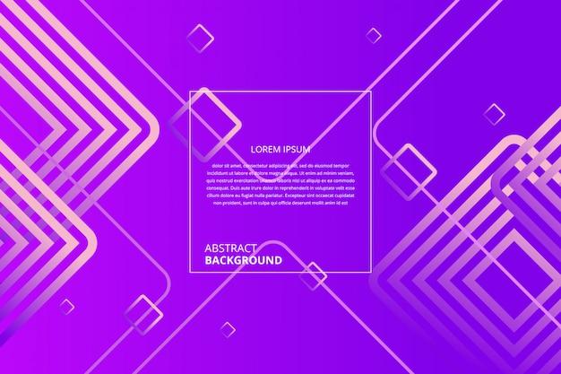 Fundo abstrato gradiente de linhas quadradas