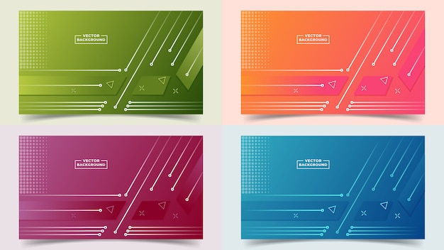 Fundo abstrato gradiente definir cores e linhas em uma bela combinação