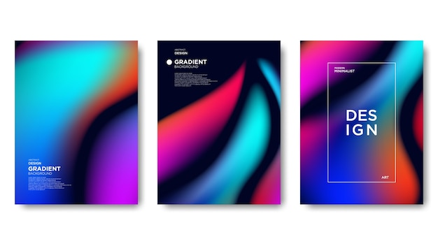 Fundo abstrato gradiente, estilo de cor vibrante