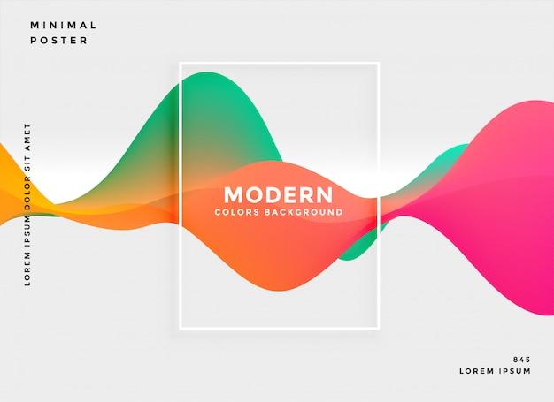 Fundo abstrato gradiente fluido moderno