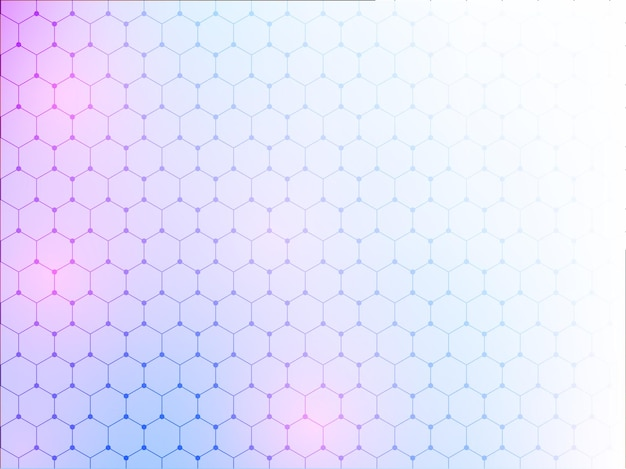 Fundo abstrato gradiente hexágono.
