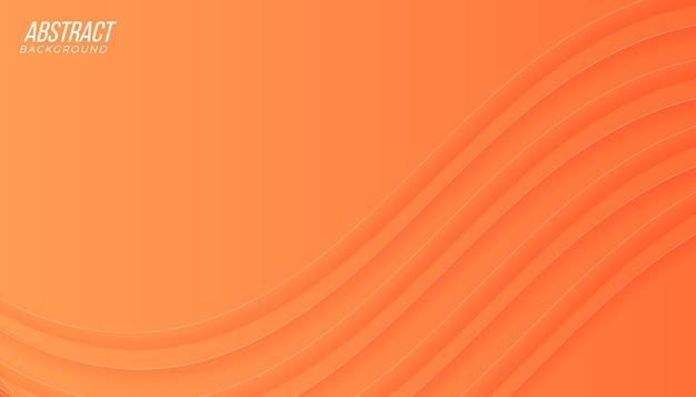 Fundo abstrato gradiente laranja pêssego moderno com ondas