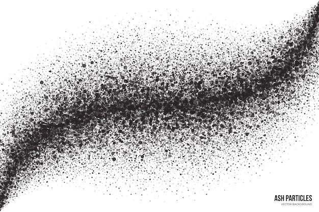 Fundo abstrato grunge preto trilha de gotas de spray