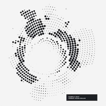 Fundo abstrato haltone grunge no estilo círculo