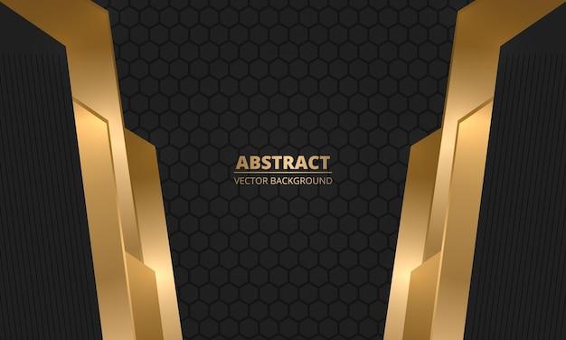 Fundo abstrato hexagonal escuro e luxuoso