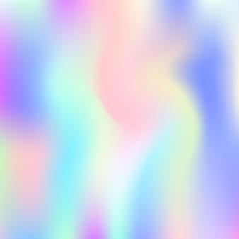 Fundo abstrato holográfico. cenário holográfico líquido com malha de gradiente. estilo retro dos anos 90, 80. modelo gráfico iridescente para banner, folheto, design da capa, interface móvel, aplicativo da web. Vetor Premium