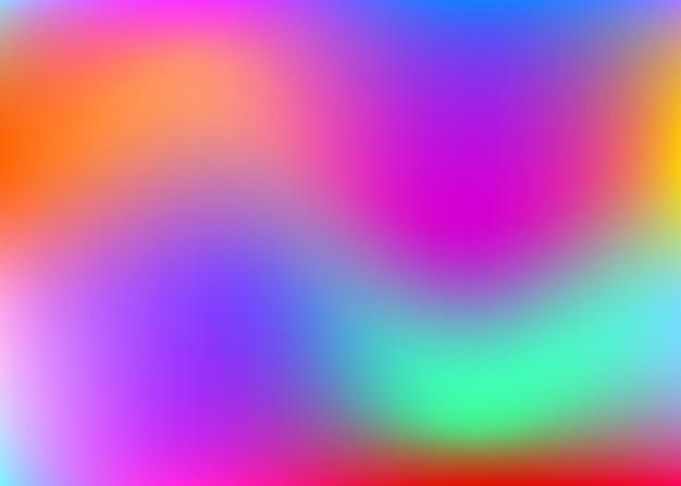 Fundo abstrato holográfico. cenário holográfico mínimo com malha de gradiente. estilo retro dos anos 90, 80. modelo gráfico perolado para cartaz, apresentação, banner, folheto.