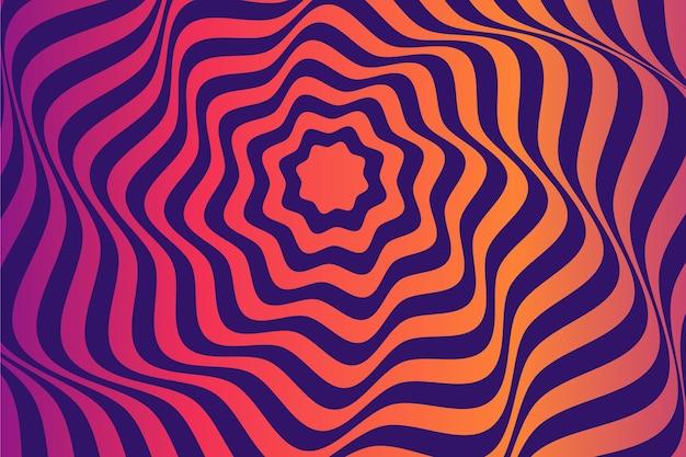Fundo abstrato ilusão de ótica psicodélico floral