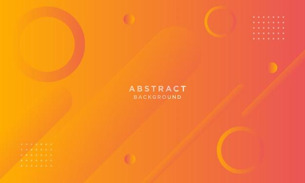Fundo abstrato laranja papercut dinâmico com estilo memphis