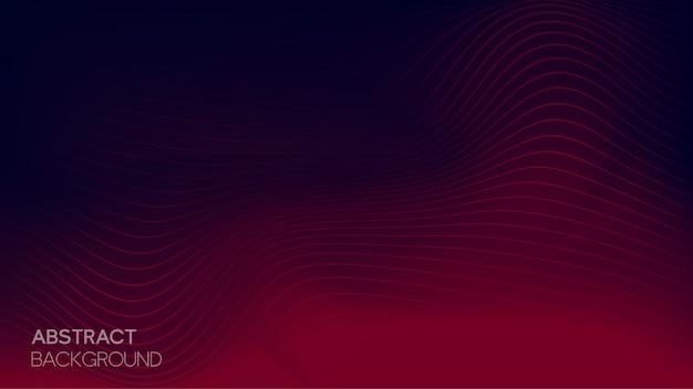 Fundo abstrato linha ondulada