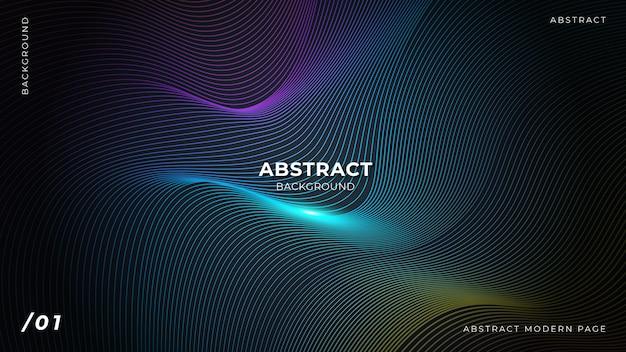 Fundo abstrato linhas coloridas