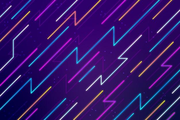 Fundo abstrato linhas de néon