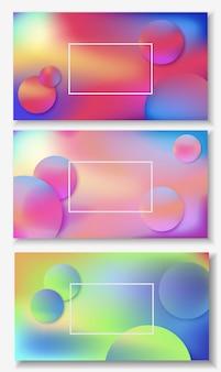 Fundo abstrato líquido colorido