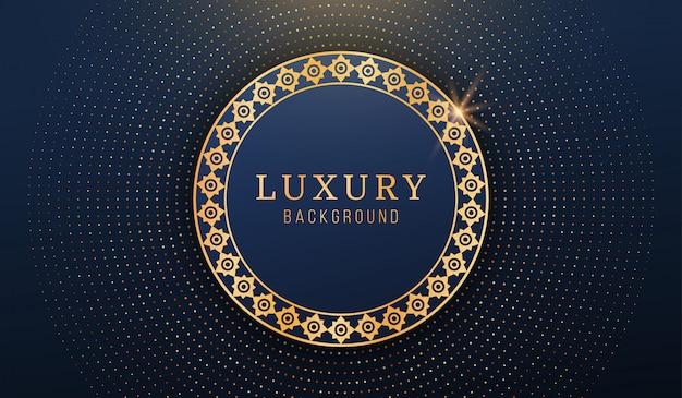 Fundo abstrato luxo círculo de ouro