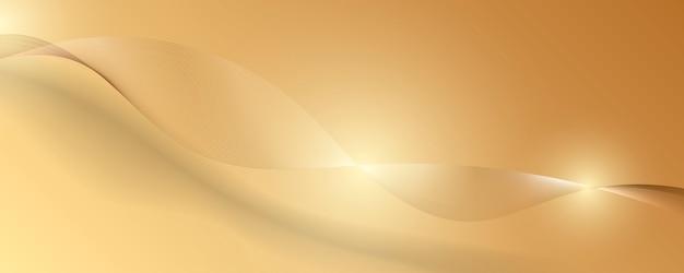 Fundo abstrato luxo ouro. ilustração vetorial