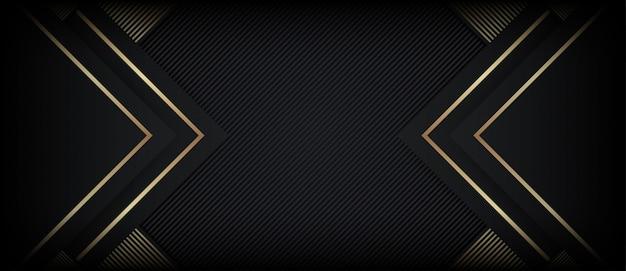 Fundo abstrato luxo poligonal com formas douradas