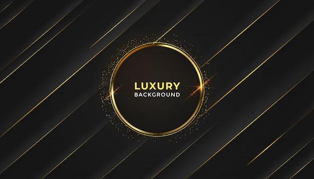Fundo abstrato luxo preto com padrão de meio-tom brilho