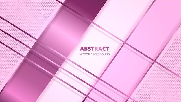 Fundo abstrato luxuoso com linhas de gradiente rosa e sombras