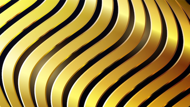 Fundo abstrato luxuoso com linhas douradas de design moderno
