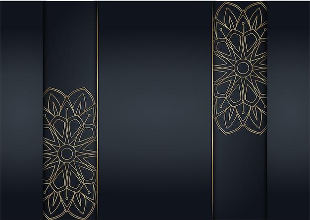 Fundo abstrato luxuoso preto e dourado. padrão de linha diagonal dinâmica ouro criativo. fundo formal de vetor premium para brochura comercial, cartaz, caderno, modelo de menu