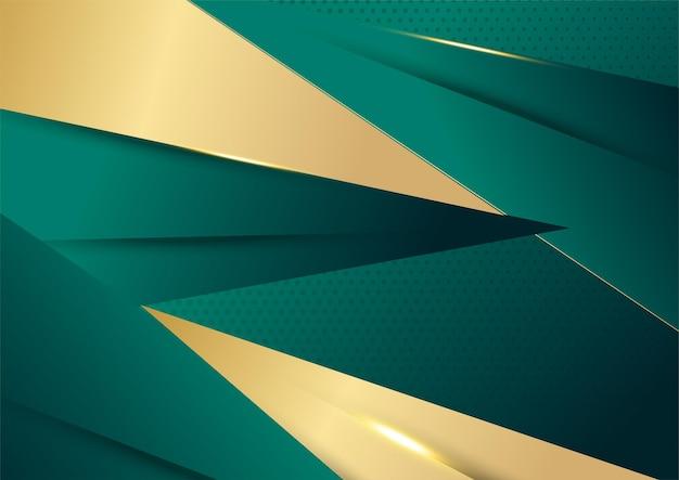 Fundo abstrato luxuoso verde escuro e dourado