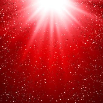 Fundo abstrato luz vermelha mágica