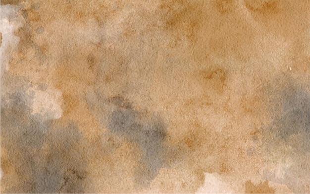Fundo abstrato marrom pintado à mão em aquarela