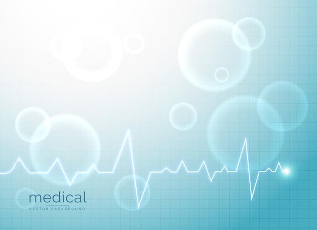 Fundo abstrato médico com eletrocardiograma