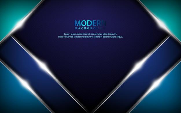Fundo abstrato metálico azul escuro