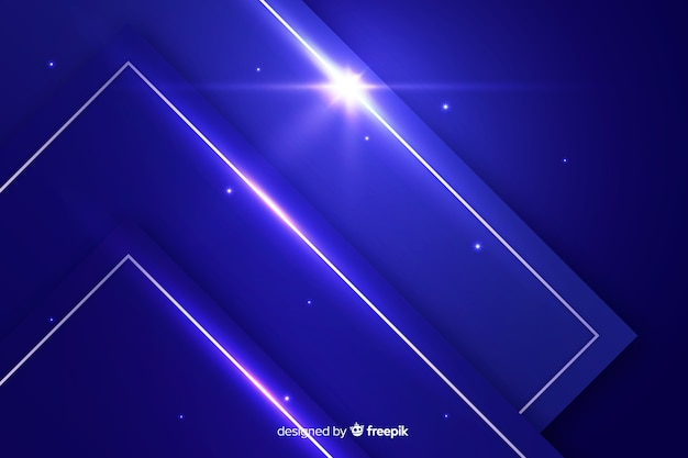 Fundo abstrato metálico azul futurista