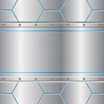 Fundo abstrato metálico pente