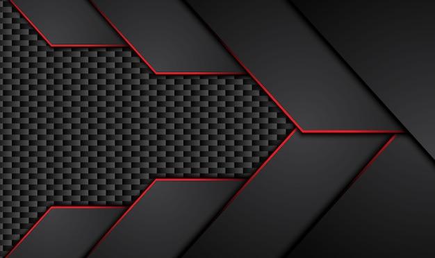 Fundo abstrato metálico preto vermelho do conceito de inovação tecnológica