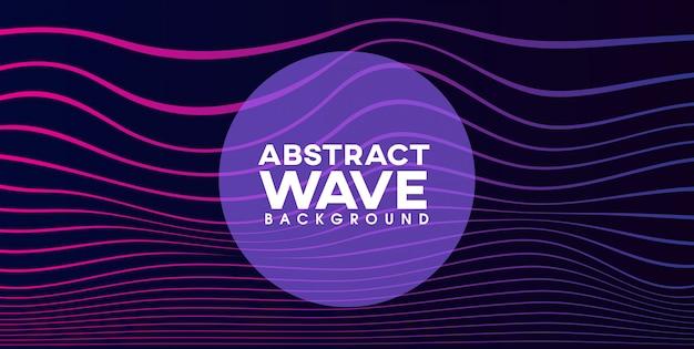 Fundo abstrato mínimo de onda