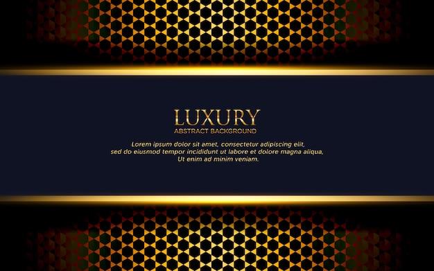 Fundo abstrato modelo de luxo com hexágono preto