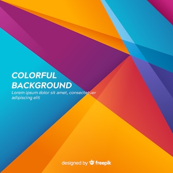 Fundo abstrato moderno colorido com formas