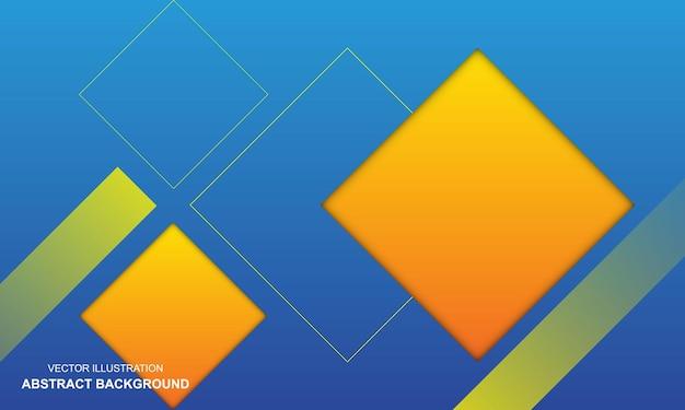 Fundo abstrato moderno, cor azul e amarela