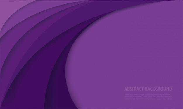 Fundo abstrato moderno curva roxa